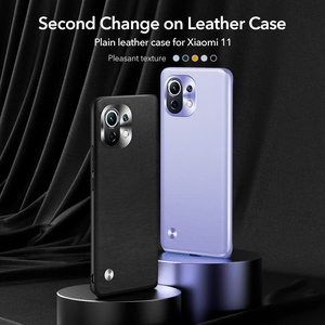 Image 2 - ESR Skin Friendly Case for Xiaomi 11 Plain Leather Back Cover for Mi 11 Slim and Light Smooth Business Case for Xiaomi 11
