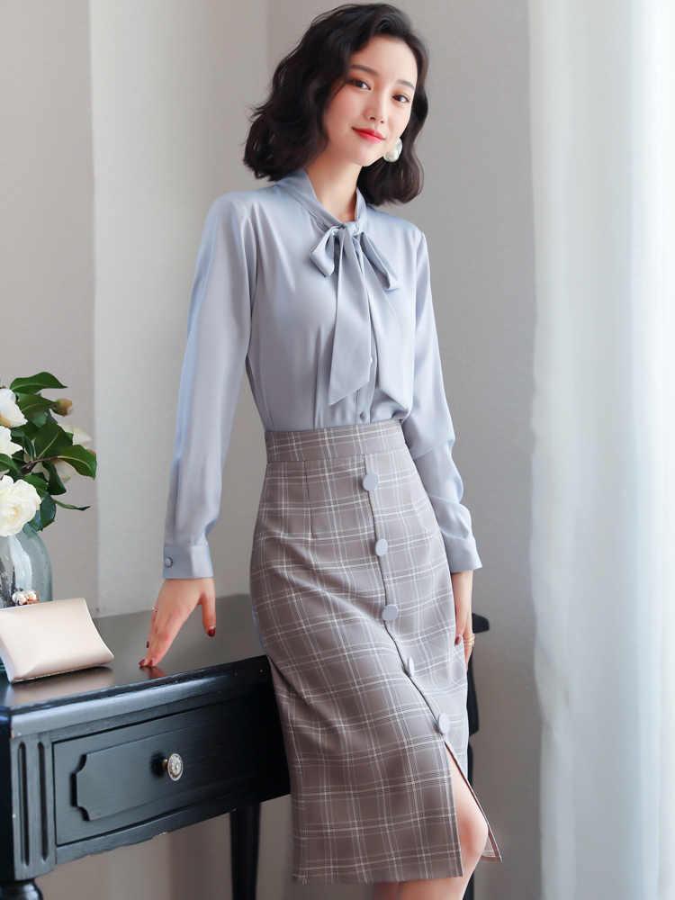 Printemps automne robe femmes 2020 décontracté élégant bureau robe femme Sexy moulante robe travail robes vestidos robe femme ZT1976