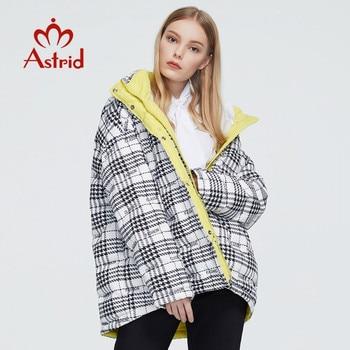 Astrid 2020 Nuove Donne di Inverno delle donne cappotto caldo parka corto di modo di spessore Giacca A Quadri con cappuccio di grandi dimensioni abbigliamento femminile ZR-7242 1