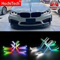 Для 2014 up BMW F31 3 серии Wagon аксессуары RGBW многоцветные знаковые M4 Стиль Кристалл глаза ангела комплект DRL