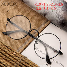 XojoX 0-1,0-1,5-2,0-2,5-3,0-4,0 la luz azul gafas Mujer los hombres gafas graduadas para miopía Vintage Unisex miope gafas