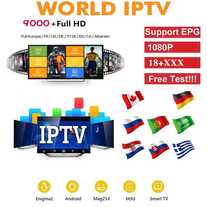 Volle HD welt IPTV Abonnement erwachsene iptv Spanien UNS UK Schweden brasilien tv box android tv box smart iptv m3u iptv box liste heißer xxx