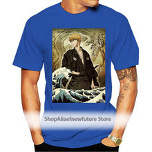 T-shirt bleach ichigo kurosaki vagues hokusai japon manga Cartoon t shirt men Unisex New Fashion tshirt Loose Size top ajax 2021