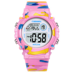 Factory direct sales children's watch colorful night light waterproof multi-functional male and female students electronic watch