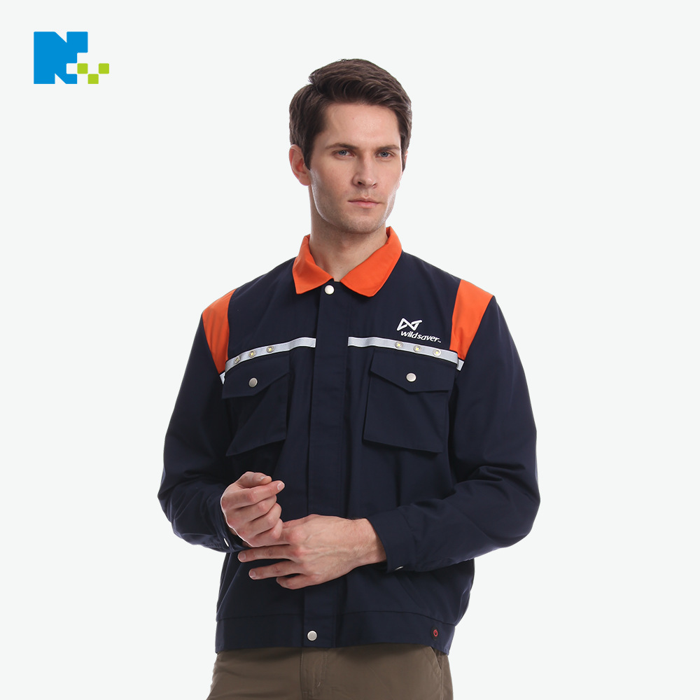 New Style Long Sleeve Workers Work Clothes LED Hair Outdoor Safe Warning Logistics Express Security Service Customizable Reflect