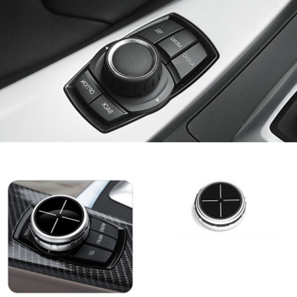 Multimedia Buttons Cover For BMW 1 2 3 5 7 Series X1 X3 X4 X5 X6 F30 F10 F15 F16 F34 F07 F01 E70 E71 Car Sticker Car Decoration