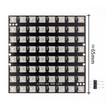 10 stücke WS2812 LED 5050 RGB 8x8 64 A Matrice di LED