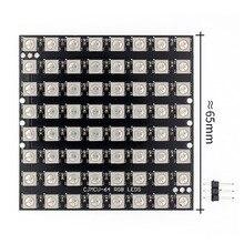 10 stücke WS2812 LED 5050 RGB 8x8 64 matryca LED