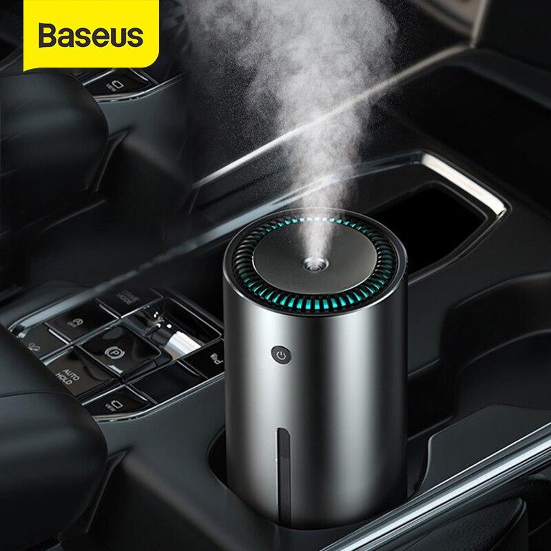 Baseus araba hava nemlendirici alüminyum alaşım 300mL LED ışık otomatik zırh ev ofis aksesuarları araba hava nemlendirici
