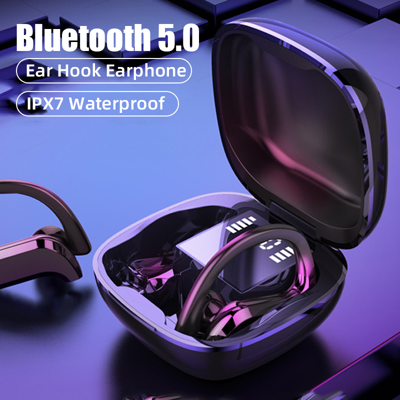 TWS Bluetooth 5.0 Earphones Wireless Bluetooth Headphone Bone Conduction 9D  HiFi Stereo Sport Headsets Handsfree With Microphone|Bluetooth Earphones &  Headphones| - AliExpress