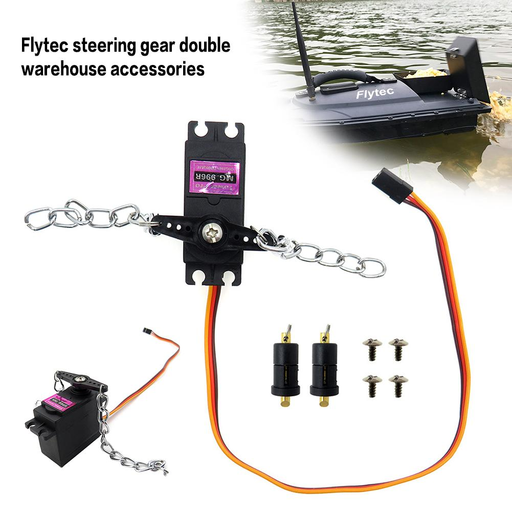 Flytec 2011-5.017 Fishing Boat Steering Gear Double Warehouse Mute Bait Casting Outdoor Nesting Ship Original Rc Boat Parts