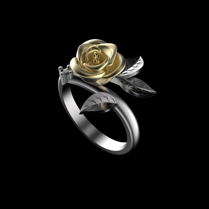 FDLK     Fashion Rose Flower Ring For Women Accessories Delicate Vintage Ring Female Wedding Band Anniversary Jewelry Lover Gift
