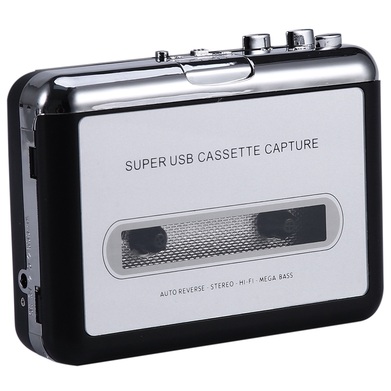 12V USB Cassette Player Tape To PC MP3 CD Switcher Converter Capture Audio Music Player With Headphones