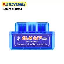 Мини OBD2 elm327 v1.5 автомобильный Obd 2 сканер Elm 327 v2.1 автомобильный диагностический инструмент обд сканер для авто считыватель Bluetooth сканер для диагностики авто для Android/IOS/Symbian/PC obd2 сканер