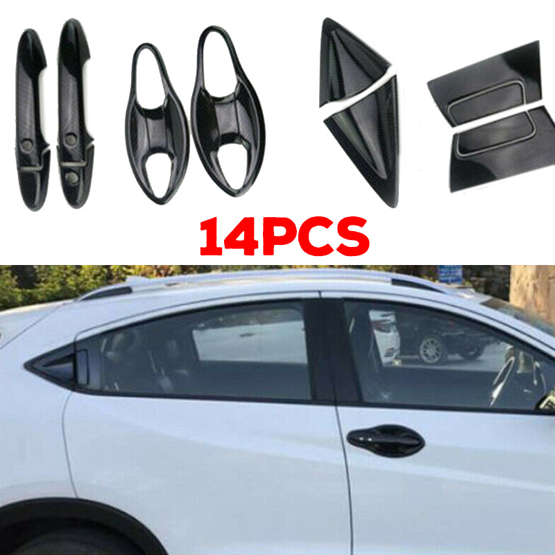 14Pcs Car <font><b>Handle</b></font> <font><b>Door</b></font> Trim Interior Set Accessories Car Auto Inner For <font><b>Honda</b></font> <font><b>HRV</b></font> 2016-2018 Car Outside <font><b>Door</b></font> <font><b>Handle</b></font> Trim Covers image