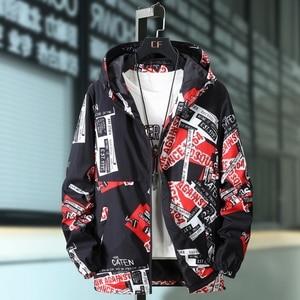 Image 2 - Plus Size 10XL 9XL 8XL 7XL 6XL Spring Autumn Hip Hop Jacket Men Slim Fit Flowers Pilot Bomber Jacket Mens Stand Collar Coats