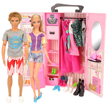 Новейший рождественский кукольный домик аксессуары Кукольный гардероб шкаф для обуви Кукольный дом мебель для Барби игры игрушки для детей DIY подарок