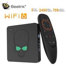 Beelink GT-rey WIFI 6 caja Android 9,0 caja de Tv DDR4 4GB 64GB 1000M LAN inteligente Neo Tv 5,8G Dual Wifi 4K reproductor de medios del GT-rey Pro