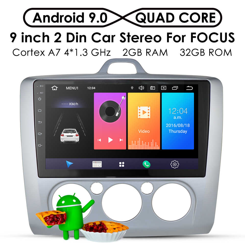 2G+32G Android 9.0 DSP Car Radio Multimedia Video Player Navigation GPS For ford focus 2 3 Mk2/Mk3 hatchback 2 din DVD Cam-in 4G(China)