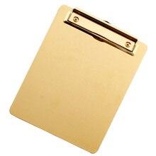 Tabla de Clip de archivo de acero inoxidable, portapapeles A4, carpeta de notas, portátil, tableta de escritura para el hogar, escuela, oficina, Si