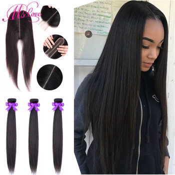 Ms Love 2x6 Closure And Bundles Peruvian Hair Bundles With Closure Straight Kim K Human Hair Bundles With Closure Non Remy Hair - DISCOUNT ITEM  49% OFF All Category