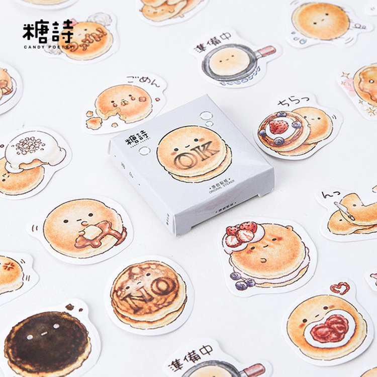 45 Pcs/lot Bread Sticker Decoration DIY Scrapbooking Sticker Stationery Kawaii Handbook Notes Decorative Stickers