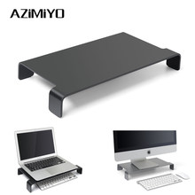 Azimiyo Aluminium Laptop Stand Base Notebook Cooling Beugel Voor Macbook Mac Office Uitbreiden Ruimte Beugel Computer Accessoires(China)
