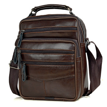 Men Genuine Leather Handbags Male High Quality Cowhide Leather Messenger Bags Men's Ipad Business Bag Middle Size Briefcase Tote
