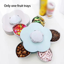 5 Grids Food Party Flower Petal Tray Nuts Candy Organizer Storage Wedding Snack Rotatable Container Fruit Plate Box