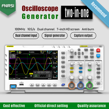 FNIRSI-1014D Digital Oscilloscope 2 In 1 Dual Channel Input Signal Generator 100MHz* 2 Ana-log Bandwidth 1GSa/s Sampling Rate