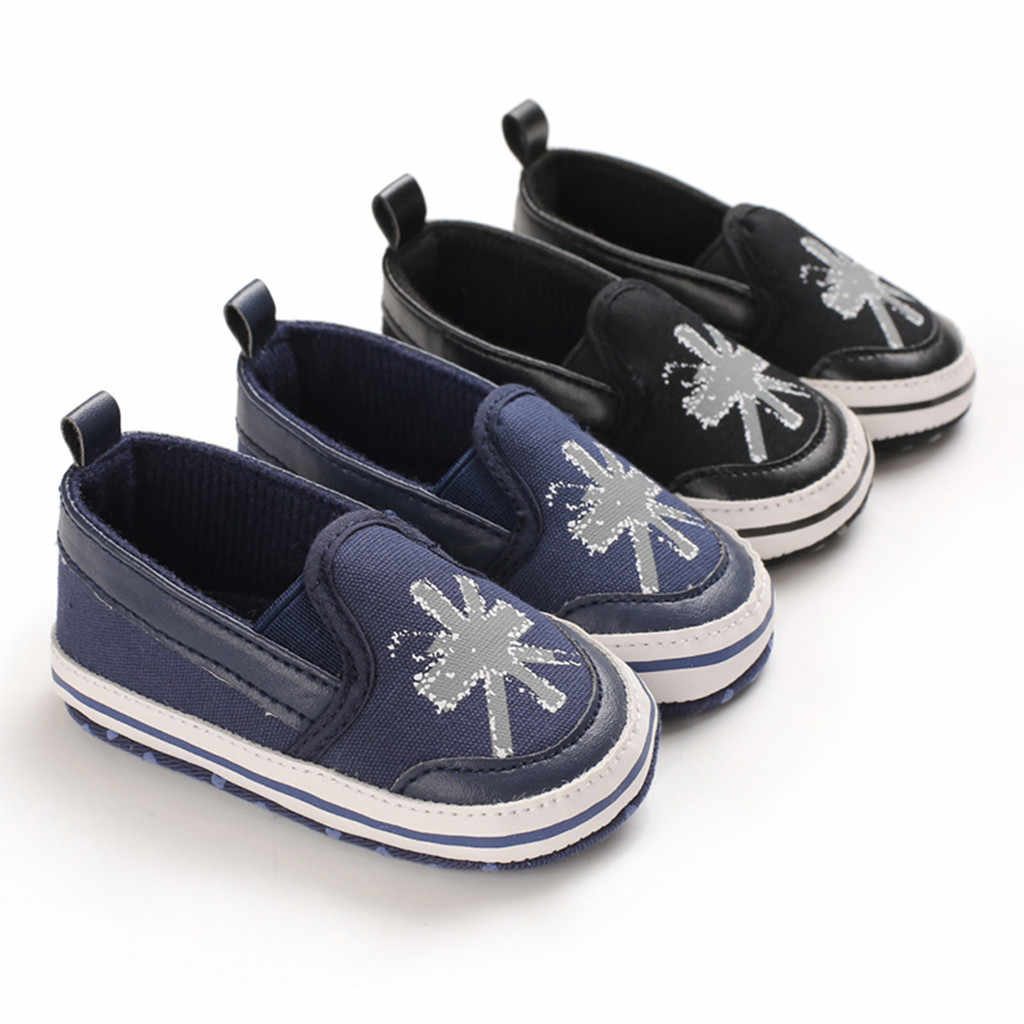 Primavera niños zapatos niños niñas zapatos casuales moda Casual impresión cómodos zapatos de lona niños zapatillas deslizantes en mocasines