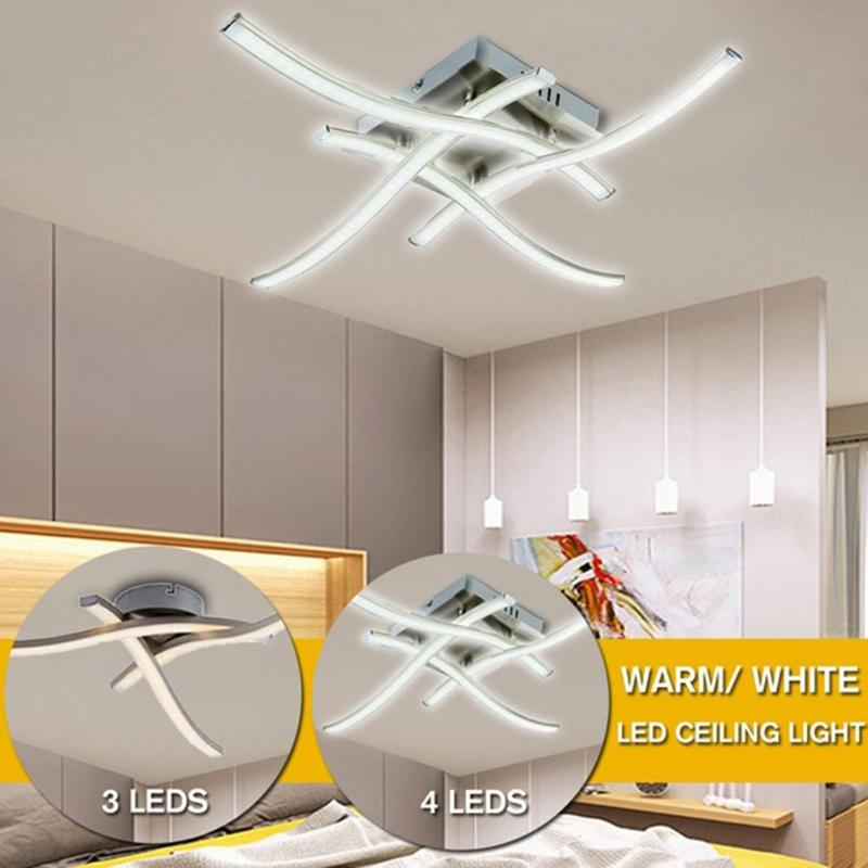 LED Ceiling Lamp Body Simple And Luxurious Not Deformed AC 85-265V Forked Shaped Modern Lamp Kitchen Bedroom Lighting