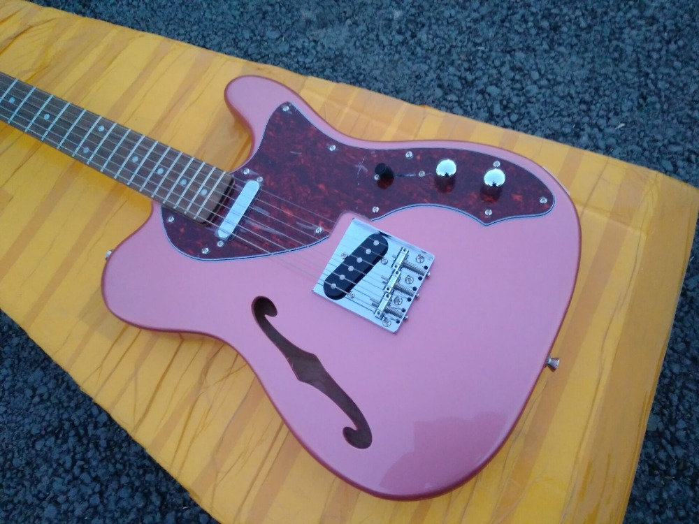 70s thinline corpo f buraco guitarra elétrica tradicional