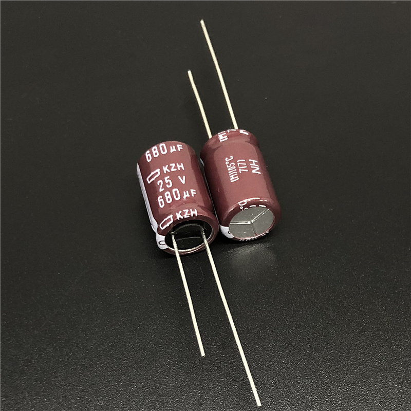 10pcs 680uF 25V NIPPON NCC KZH Series 10x16mm Ultra Low Impedance 25V680uF Aluminum Electrolytic Capacitor