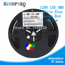 1Reel 3000pcs 1206 SMD LED  light  Yellow Red  Green Blue White new and