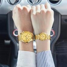 Olevs 6630 Водонепроницаемый пару часов Лидирующий бренд роскошные
