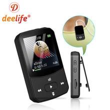 Deelife MP3 Player Bluetooth HIFI Music Play MP 3 with Memory 32GB 8GB FM Radio Portable for Running Clip Mini
