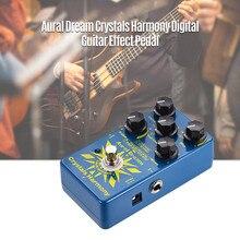 Aural sonho cristais harmonia digital guitarra efeito pedal criando partículas de cristal efeitos verdadeiro bypass único efeitos