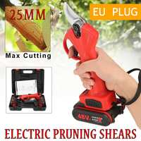 48V Wireless Electric Rechargeable Scissors Pruning Shears Tree Garden Tool Branches Pruning Tools With 2 Li ion Battery