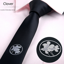 Business Affairs Polyester Fiber Jacquard Location Embroidery Series Necktie