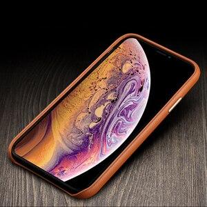 Image 5 - Luxe Vintage Zacht Lederen Case Voor Iphone 7 8 Plus X Xr Xs Max Metalen Volume Knop Voor Iphone 11 11Pro Max Back Case