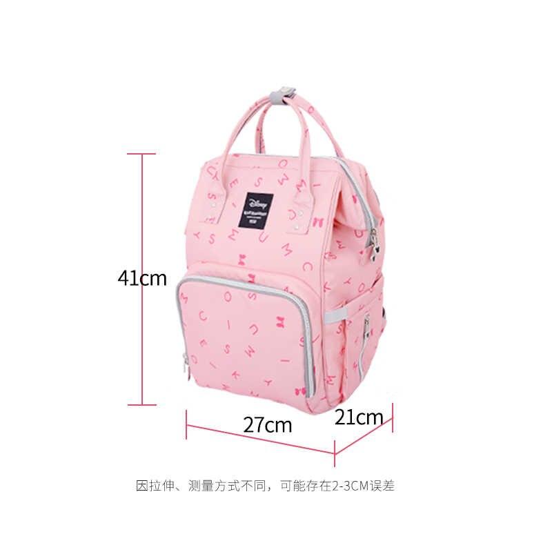 Disney torba torba na pieluchy dla niemowląt torba macierzyńska wielofunkcyjna duża pojemność plecak na pieluchy torba do wózka