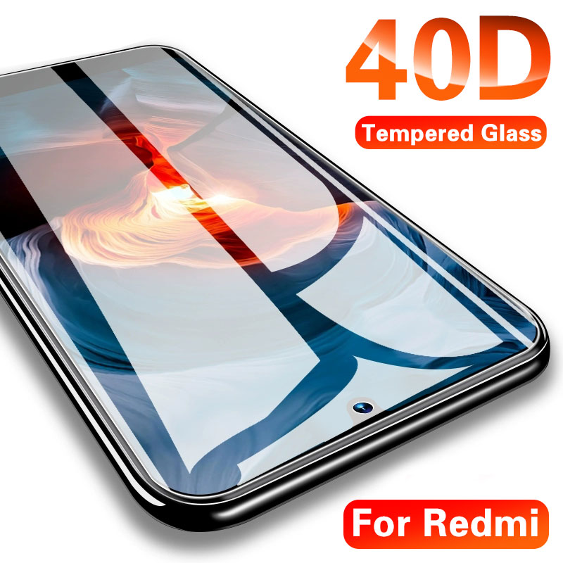 40D Tempered Glass For Xiaomi Redmi Note 5 6 7 Pro Screen Protector On The Redmi 6A 8 Pro Glass Protective Glass On Redmi Note 7