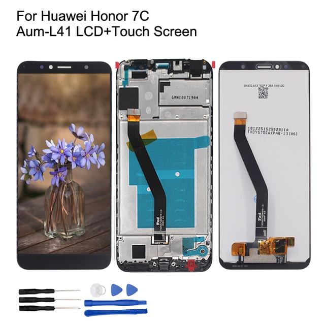 Original pour les pièces de réparation décran tactile daffichage à cristaux liquides de Huawei Honor 7C Aum L41 pour laffichage à cristaux liquides décran dhonneur 7C avec le cadre