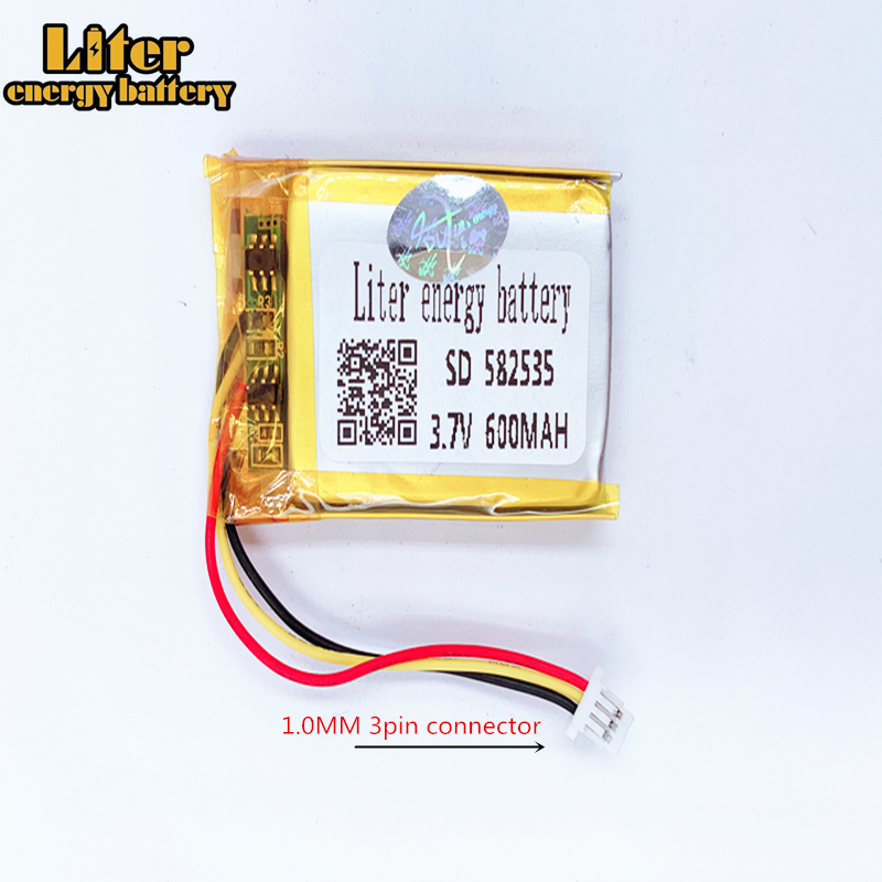 MODEL 582535 SP5 <font><b>3.7V</b></font> <font><b>600mAh</b></font> Rechargeable Battery For tachograph papago F300 F200 F210 QStar A5 DVR 602535 parkcity 710 image