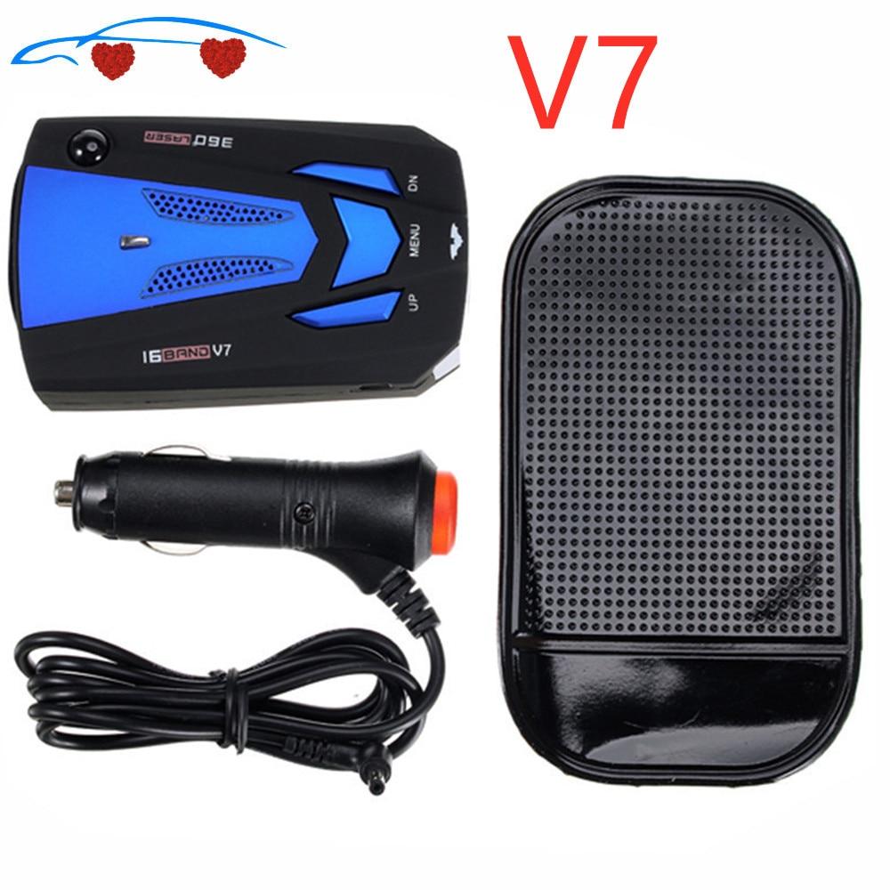 2020 Car Radar V 7 Laser Speed Alarm Camera Detector 16 For Band 360 Degree Detection Car-Detector V7(China)