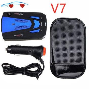 2020 auto Radar V 7 Laser Geschwindigkeit Alarm Kamera Detektor 16 Für Band 360 Grad Erkennung Auto-Detektor V7