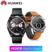 Huawei Honor Watch Magic SmartWatch GPS 5ATM 방수 심박수 추적기 수면 추적기 작동 7 일 메시지 알림