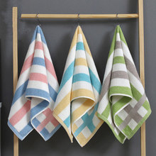 3pcs 34*76cm stripe Cotton Towels Bathroom for adults cloth Men Women travel Towel Super Absorbent Shower home bathroom