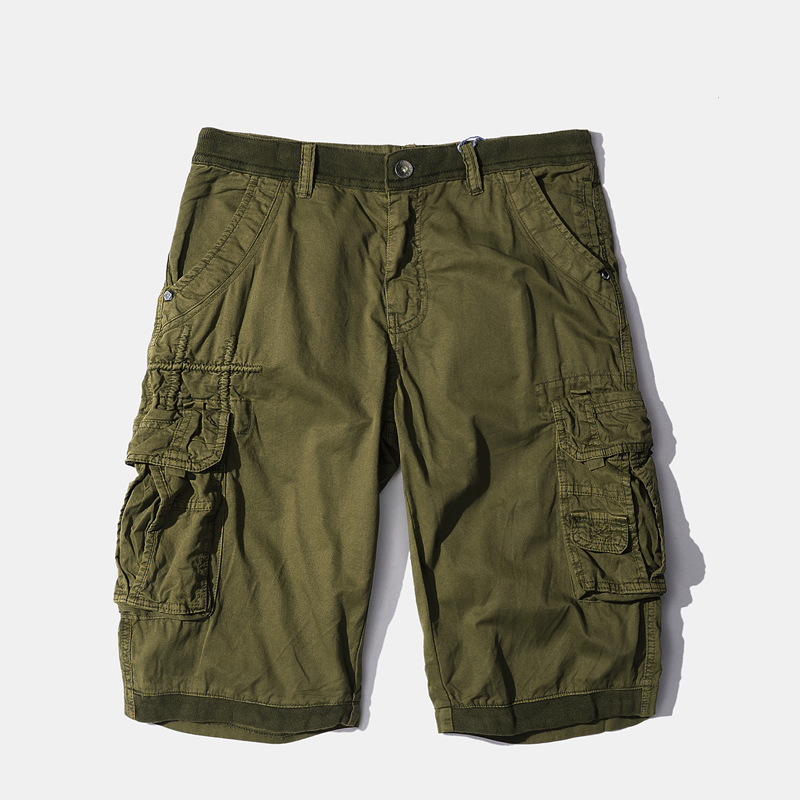 2019 Summer New Style Hot Selling Summer Men's Multi-pockets Workwear Shorts Pure Cotton Loose-Fit Outdoor Shorts Men's